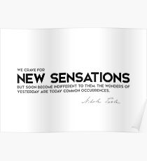 new sensations - nikola tesla Poster