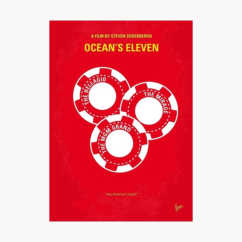 No056- Oceans 11 minimales Filmplakat Fotodruck