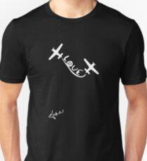 love peace symbol aviation T-Shirt