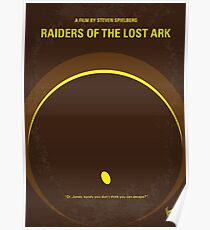 No068- Raiders of the Lost Ark minimal movie poster Poster
