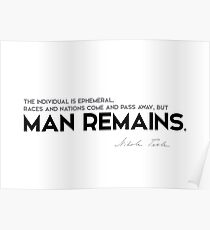 man remains - nikola tesla Poster