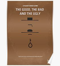 No090- The Good The Bad The Ugly minimal movie poster Poster