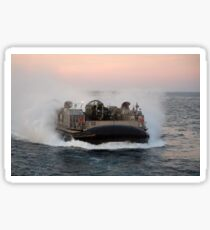 Landing Craft Air Cushion transits the Atlantic Ocean. Sticker