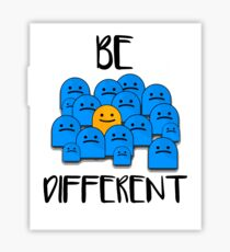 Be Different Sticker