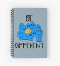 Be Different Spiral Notebook