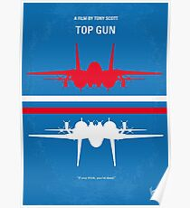 No128- TOP GUN minimal movie poster Poster