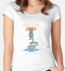 Purrtal - Chell Women's Fitted Scoop T-Shirt