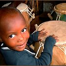 Drummer Boy Ghana by Wayne King