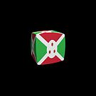 Burundi Flag cubed. by stuwdamdorp