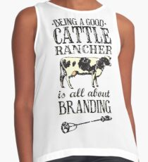 Being a Good Cattle Rancher is all about Branding Contrast Tank