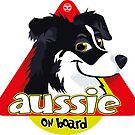 Aussie On Board - Black White by DoggyGraphics