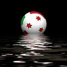Burundi flag rising/setting by stuwdamdorp