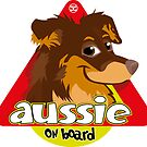 Aussie On Board - Brown Tan by DoggyGraphics
