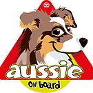 Aussie On Board - Brown Merle tricolor by DoggyGraphics