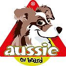 Aussie On Board - Brown Merle by DoggyGraphics