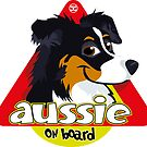 Aussie On Board - Black Tricolor by DoggyGraphics