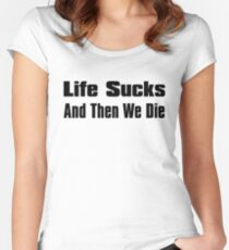 A Bit of Optimism #3 (Large Text) Women's Fitted Scoop T-Shirt