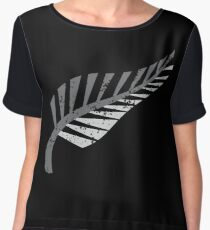 Silver fern distressed  Women's Chiffon Top