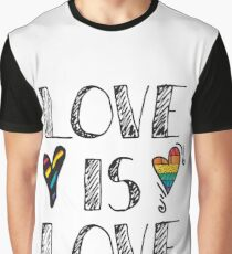 Love Is Love Doodles LGBT Graphic T-Shirt