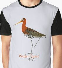 Black-tailed Godwit - Wader Quest Graphic T-Shirt