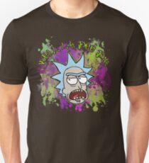 Well La Dee Da - Rick Sanchez - Rick and Morty - 80's POP ART Splatter Paint Graffiti Punk Neon T-Shirt