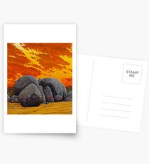 """History Wars II"" 83x76cm, oil on linen.  Postcards"