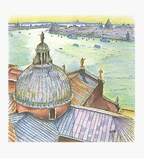 VENICE. View to Grand Canal from Basilica Di San Giorgio Maggiore.  Photographic Print