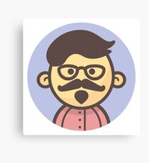 Mini Characters - Hipster Man Canvas Print
