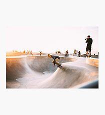 skateboard bowl grind hustle grunge collection Photographic Print