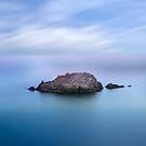 Gull rock Roseland peninsula cornwall  by eddiej