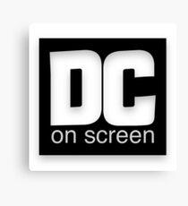 DC on SCREEN Logo (Black) Canvas Print