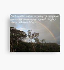 Romans 8:18 Rainbow Canvas Print