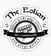 The Eolian Bar (Name of the Wind) Sticker