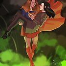a super and a luthor by Diana Benitez