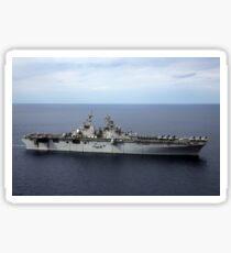 The amphibious assault ship USS Kearsarge. Sticker