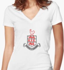 Airdrieonians Women's Fitted V-Neck T-Shirt