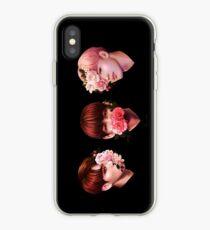 Vinilo o funda para iPhone ❀ Flores + Línea Maknae ❀