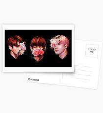❀ Flowers + Maknae Line ❀ Postcards