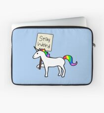 Stay Weird, Unicorn Laptop Sleeve