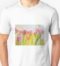 Original Canvas art, floral oil painting Tulips for home decor T-Shirt