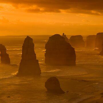 Twelve Apostles Sunset by biawak