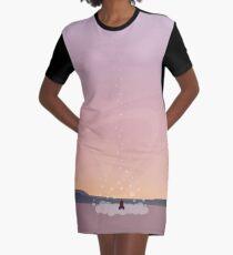 Rocket Landscape Graphic T-Shirt Dress