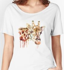 Giraffe Head Women's Relaxed Fit T-Shirt