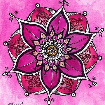 Pink mandala original painting by DhanaART