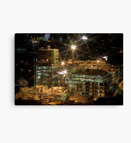 Night Construction Canvas Print