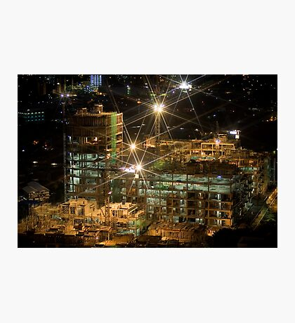Night Construction Photographic Print