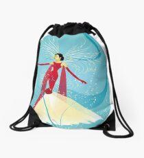 Lady in Red © hatgirl.de (Retro, For Kids, Feminine) Drawstring Bag