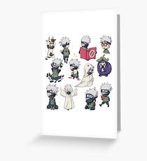 Kakashi Naruto Greeting Card