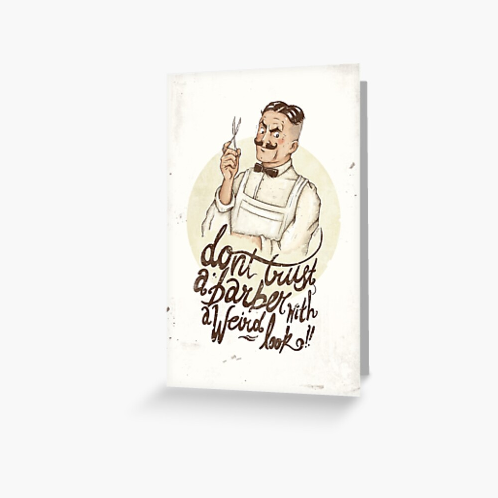 The Barber Greeting Card