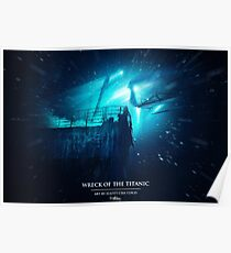 Wreck of the Titanic | Titanic painting Poster